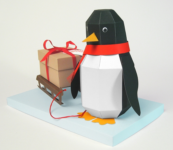 Card Craft Templates - Pogo the Penguin, ideal for Christmas