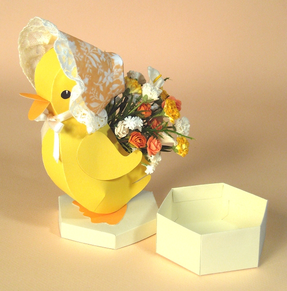 Card Making Downloads - Esmerelda the Easter Duckling, open base