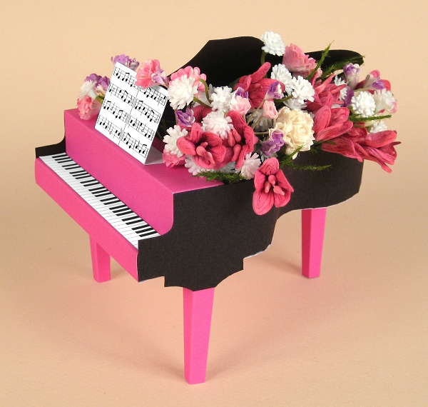 Card Craft Templates - Grand Piano
