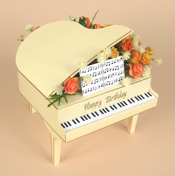 Card Craft / Card Making Templates - Grand Piano