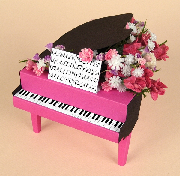 Card Making Templates - Grand Piano
