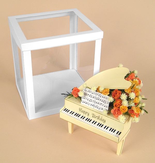 Card Craft / Card Making Templates - Grand Piano and display box