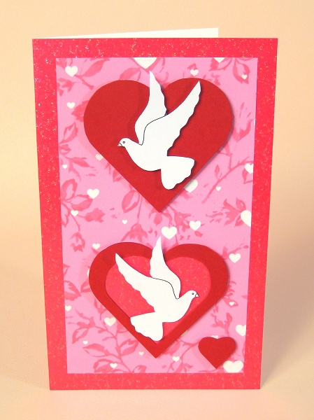 Card Making Templates for Valentine's Day - Love Birds card