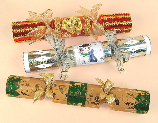 Card Making Templates - Christmas Crackers