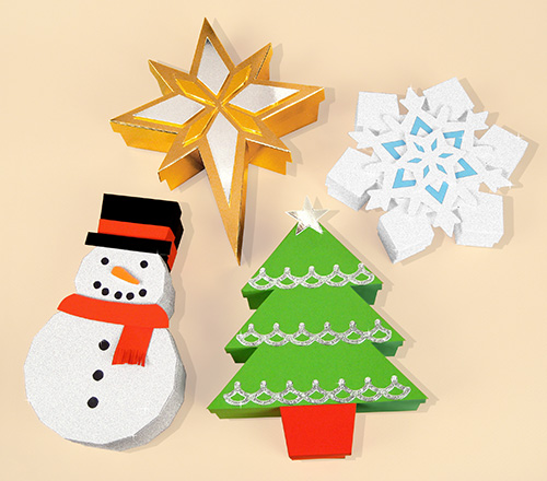 Card Craft / Card Making Templates - Christmas Gift Boxes