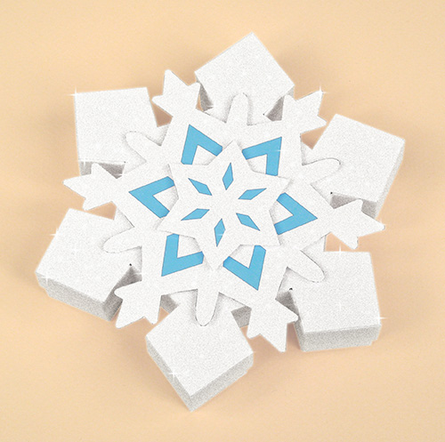 Card Making Templates - Christmas Snowflake Gift Box