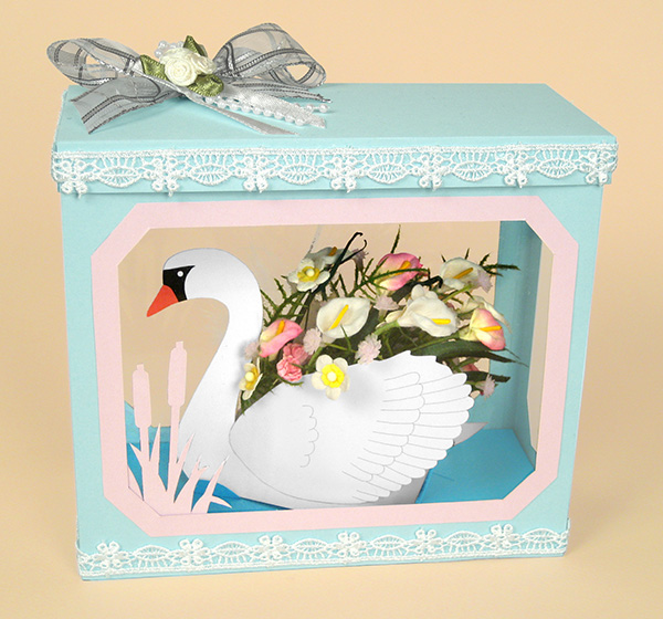 Card Craft Templates - Swan in Display Box