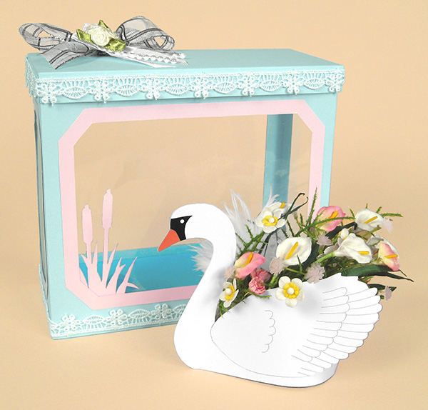 Card Craft / Card Making Templates - Swan and Display Box