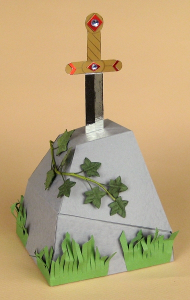 Card Craft Templates - Sword in the Stone
