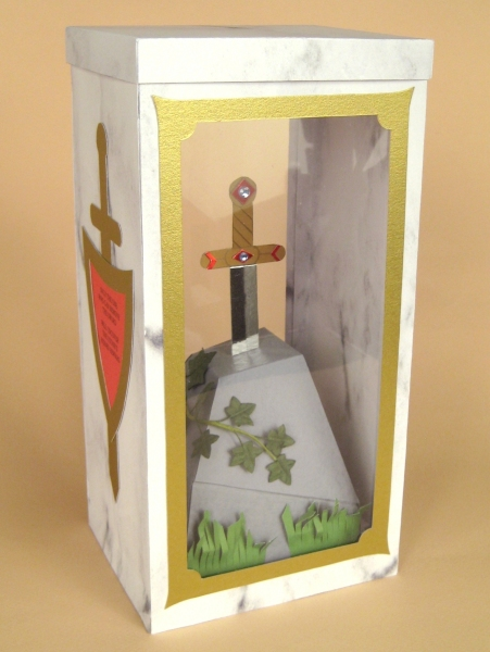 Card Making Templates - Sword in the Stone in Display Box