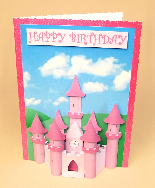Card Craft / Card Making Templates - Princess Castle