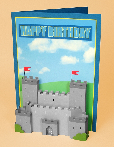 Card Craft / Card Making Templates - Knight's Castle