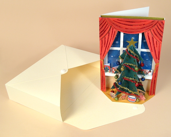 Card Craft / Card Making Templates - The Night Before Christmas, card and envelope box