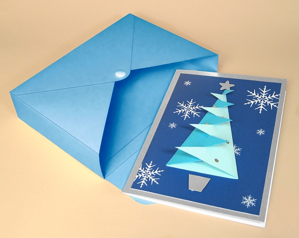 Card Craft / Card Making Templates - Christmas Tree Card and Envelope Box