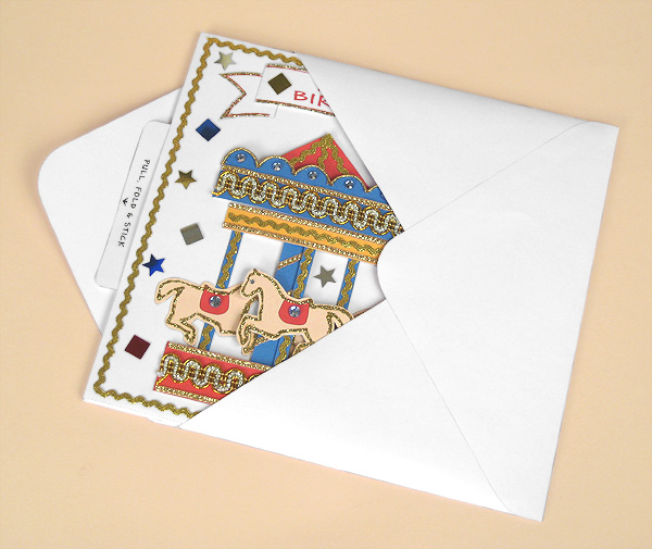 Card Craft / Card Making Templates - Pop-Up Carousel Card in Envelope