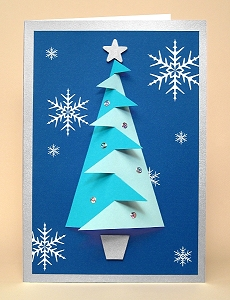 Card Making Templates for 3D Christmas Tree Greeting Card ...
