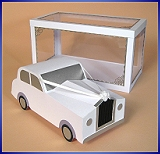 Card Making Templates for 3D Wedding Car