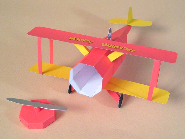 Preferred Card Craft / Card Making Templates - Opening 3D Biplane/Aeroplane  OV36